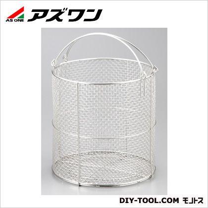 アズワン ステンレス丸型洗浄カゴ φ300×300mm (1-3450-04)