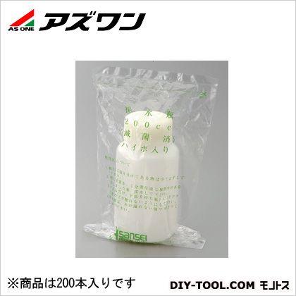 アズワン 滅菌採水瓶 ハイポ入 200ml 2-6425-02 1箱(1本/袋×200袋入)