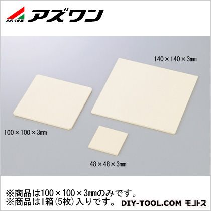 アズワン ジルコニア板 多孔質 100×100×3mm 1-3480-02 1箱(5枚入)