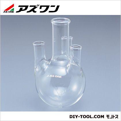 アズワン 四つ口ガラスフラスコ 500ml (5-5647-02) 1個