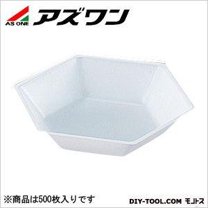 アズワン 六角バランストレイ 150×130×29.5mm300ml (1-5841-04) 1箱(500枚入)