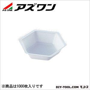 アズワン 六角バランストレイ 制電タイプ 80×70×18.5mm50ml (1-5842-02) 1箱(1000枚入)
