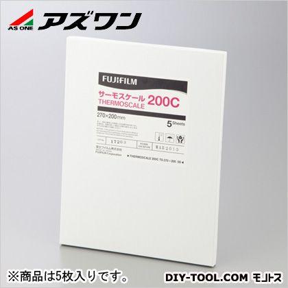 アズワン 熱分布測定フィルム 270×200×0.09mm (1-2463-01) 5枚