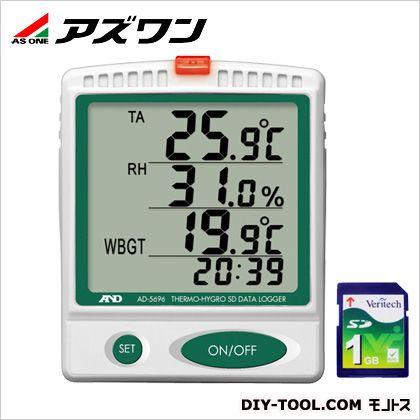 アズワン デジタル温湿度SDデータロガ 91×30×110mm (1-2400-01)