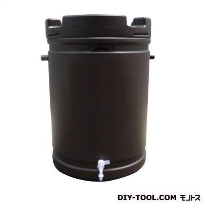※法人専用品※安全興業 雨水タンク 茶 約580φ(直径)*約835mm(高さ) AZ-062
