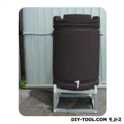 安全興業 雨水タンク+アルミ台セット 茶 (AZ-064)