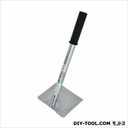 自然作 日本製 メーカー再生品 ステンレス パイプ柄 450mm 平鍬