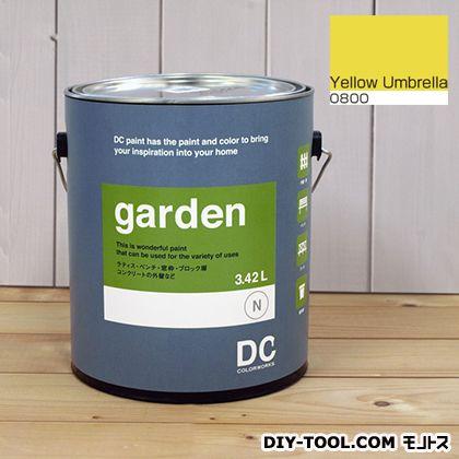 DCペイント 屋外用多用途水性塗料 Garden(屋外用ペイント) 【0800】Yellow umbrella 約3.8L atom 塗料 水性塗料