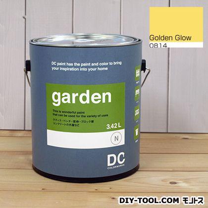 DCペイント 屋外用多用途水性塗料 Garden(屋外用ペイント) 【0814】Golden Glow 約3.8L atom 塗料 水性塗料