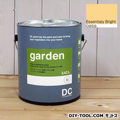 DCペイント 屋外用多用途水性塗料 Garden(屋外用ペイント) 【0959】Essentially Bright 約3.8L atom 塗料 水性塗料