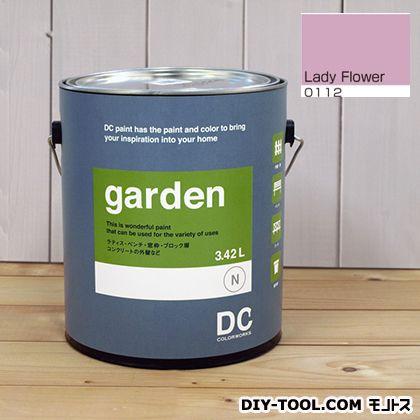 DCペイント 屋外用多用途水性塗料 Garden(屋外用ペイント) 【0112】Lady Flower 約3.8L atom 塗料 水性塗料