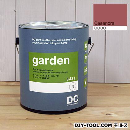 DCペイント 屋外用多用途水性塗料 Garden(屋外用ペイント) 【0088】casandra 約3.8L atom 塗料 水性塗料