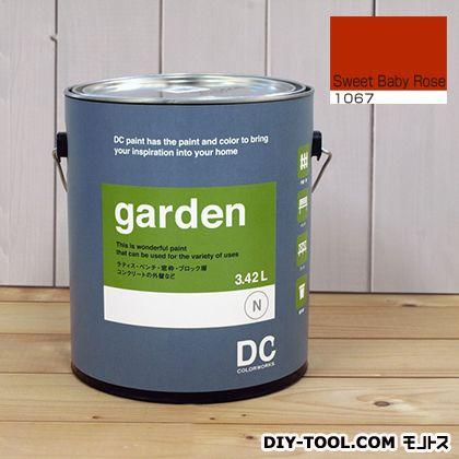 DCペイント 屋外用多用途水性塗料 Garden(屋外用ペイント) 【1067】Sweet Baby Rose 約3.8L atom 塗料 水性塗料