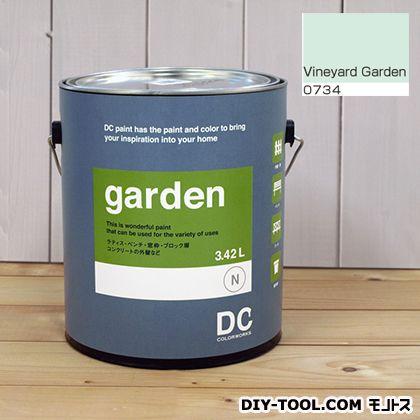 DCペイント 屋外用多用途水性塗料 Garden(屋外用ペイント) 【0734】Vineyard Green 約3.8L atom 塗料 水性塗料