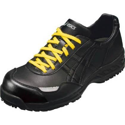 アシックス 静電気帯電防止靴 ウィンジョブE50S 9090ブラック×ブラック 22.5cm (FIE50S.9090 22.5)