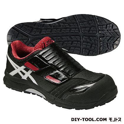 アシックス 作業用靴 ウィンジョブ CP101 黒×赤 (FCP101.9001 24.5)