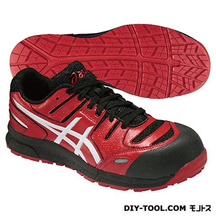 アシックス 作業用靴 ウィンジョブ CP103 赤 (FCP103.2301 24.5)