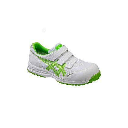 アシックス 作業用靴 ウィンジョブ41L ホワイト×ジャスミングリーン (FIS41L.0184 22.5)