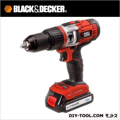 ブラック&デッカー 18Vリチウム振動ドリルドライバー  EXH18