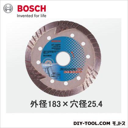 ボッシュ ダイヤモンドホイール(乾式タイプ) トルネードタイプ 外径183×穴径25.4 プロフェッショナルプラス (DT-180PP) ボッシュアクセサリー