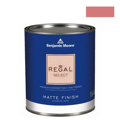 ベンジャミンムーアペイント リーガルセレクトマット 艶消し エコ水性塗料 glamour pink 4L (G221-2006-40) Benjaminmoore 塗料 水性塗料