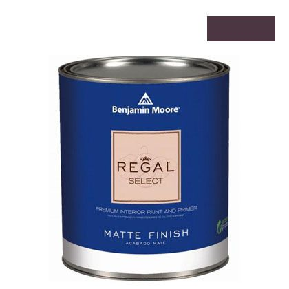 ベンジャミンムーアペイント リーガルセレクトマット 艶消し エコ水性塗料 dark purple 4L (G221-2073-10) Benjaminmoore 塗料 水性塗料