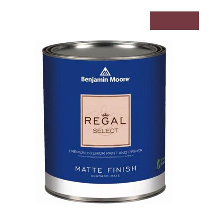 ベンジャミンムーアペイント リーガルセレクトマット 艶消し エコ水性塗料 raisin torte 4L (G221-2083-10) Benjaminmoore 塗料 水性塗料
