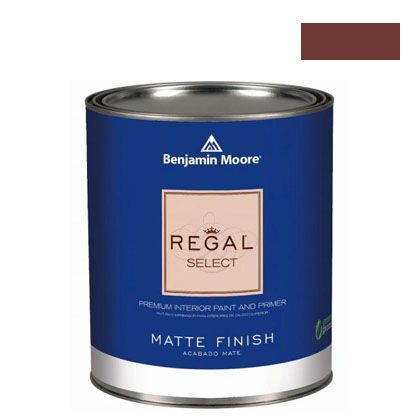 ベンジャミンムーアペイント リーガルセレクトマット 艶消し エコ水性塗料 arroyo red 4L (G221-2085-10) Benjaminmoore 塗料 水性塗料