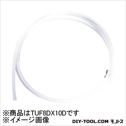 中興化成工業 PTFEチューブ(フッ素樹脂チューブ) 10m (TUF-8×10D)
