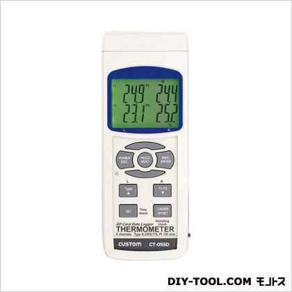 カスタム データロガーSDシリーズ 4チャンネル温度計 白 (CT-05SD)
