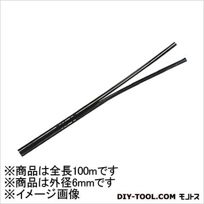 千代田通商/チヨダ TEツインタッチチューブ 黒 6mm/100m (2TE6100) 1本