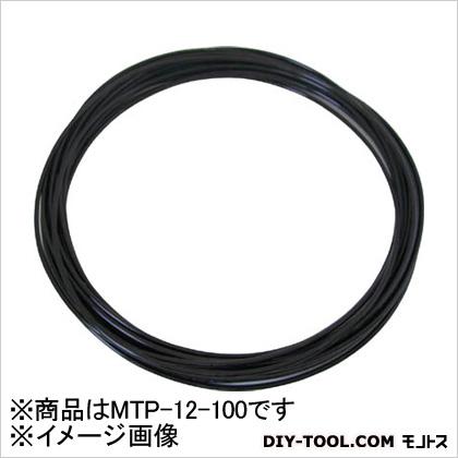 千代田通商/チヨダ メガタッチチューブ 黒 12mm/100m (MTP12100)
