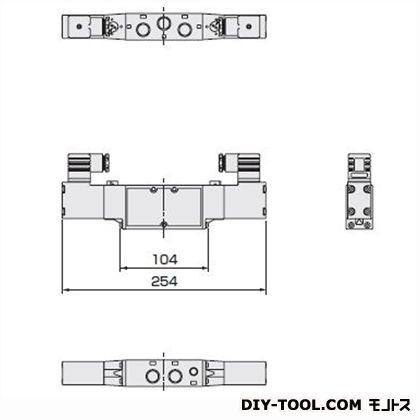 CKD セレックスバルブ4Fシリーズ 幅×奥行×高さ:254×33×95mm 4F320-10-AC100V