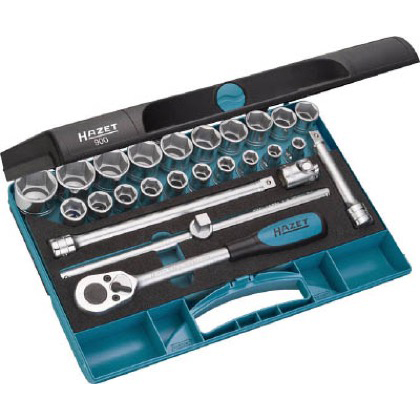 HAZET ソケットレンチセット(6角タイプ・差込角12.7mm) 1S 900