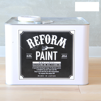 DIY FACTORY リフォームペイント 壁紙の上に塗れる水性塗料 白 6L
