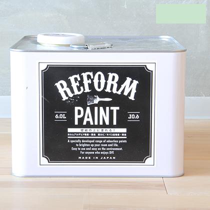 DIY FACTORY リフォームペイント 壁紙の上に塗れる水性塗料 パステルグリーン 6L