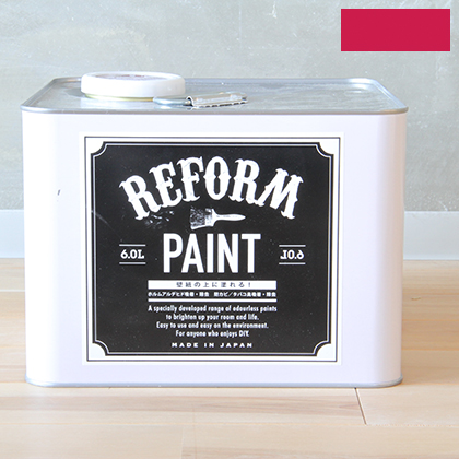 DIY FACTORY リフォームペイント 壁紙の上に塗れる水性塗料 ヨーロピアンピンク 6L