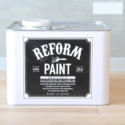DIY FACTORY リフォームペイント 壁紙の上に塗れる水性塗料 ペールブルー 6L