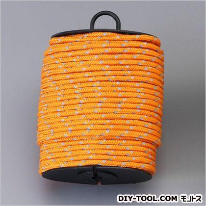 セーフティー反射ロープ オレンジ 4mm×15m 驚きの価格が実現 日本未発売 EA628AJ-41