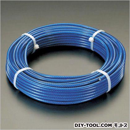 ワイヤーロープ(PVCコート) 4.0/6.0×100m (EA628SM-400)