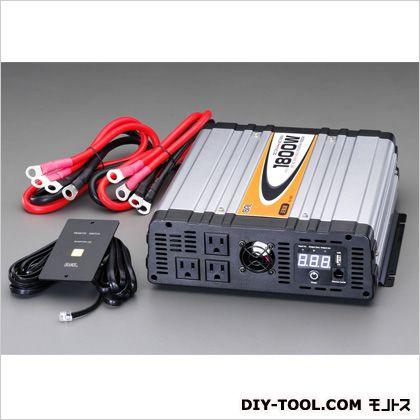 エスコ/esco DC12V/AC100V・1800W正弦波インバーター EA812JD-11