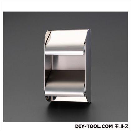 トイレットペーパーホルダー(ステンレス製/2連) 138(W)×69(D)×220(H)mm (EA638LD-13)
