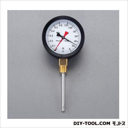0-120℃/0-0.3MPa/直径110mm水高計(立型) (EA729PA-14)