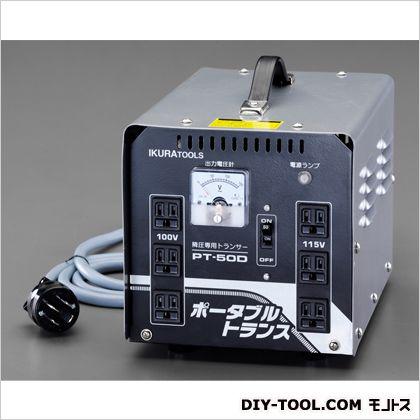 AC200V→AC100V 115V/5kvA降圧トランス 本体…205(W)×305(D)×225(H)mm (EA815ZF-3)