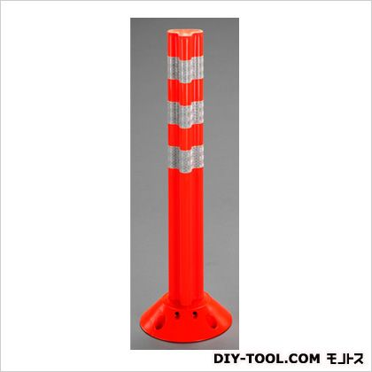 エスコ 650mm車線分離標(ポールコーン) オレンジ φ200×650(H)mm EA983FT-96 1 本