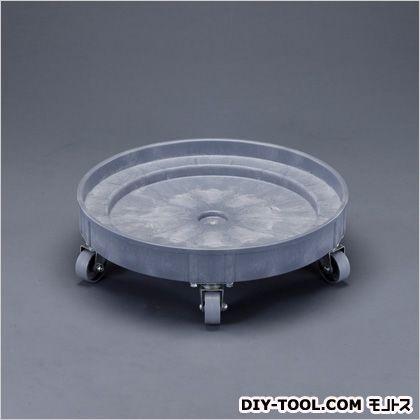 エスコ ドラム缶ドーリー(ポリプロピレン製) φ610×180(H)mm(キャスターなし:102(H)mm) EA520W-4