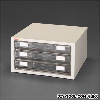500x500x272mmプリンター用紙収納台 本体:ウォームホワイト、引出:透明 500(W)×500(D)×272(H)mm (EA954HL-20)