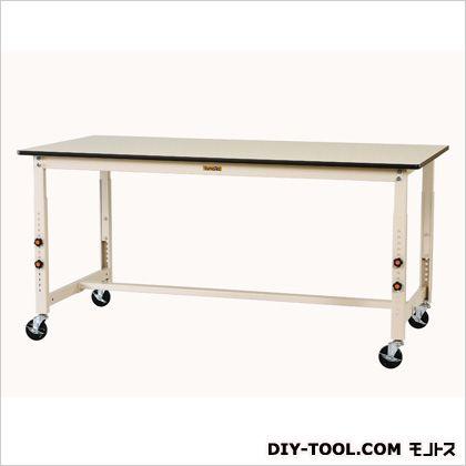 1500x600x750-1000mmワークテーブル(キャスター付) 1500(W)×600(D)×750~1000(H)mm (EA956TR-7)