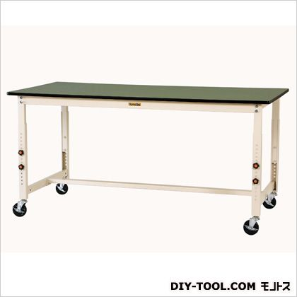 1800x600x750-1000mmワークテーブル(キャスター付) 1800(W)×600(D)×750~1000(H)mm (EA956TR-30)