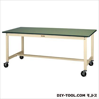エスコ 1200x600x740mmワークテーブル(キャスター付) 1200(W)×600(D)×740(H)mm EA956TS-25
